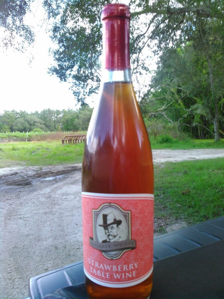 Strawberry Wine at Masaryk Winery