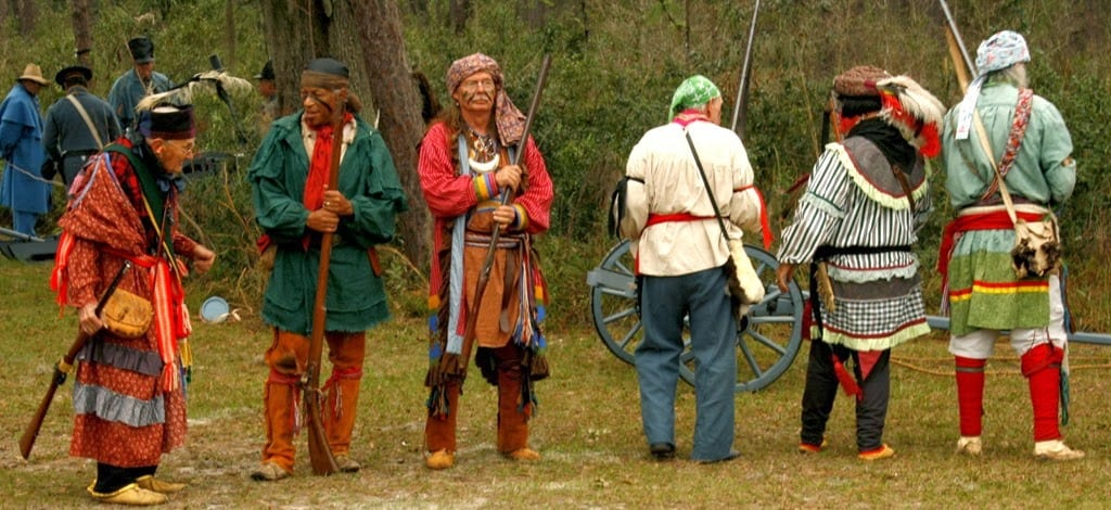 Seminole re-enactors