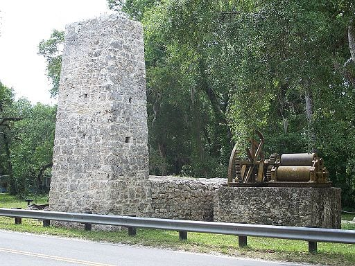 The Yulee Sugar Mill Ruins State Park was once part of a thriving sugar plantation owned by Florida's first State Senator, David Levy Yulee.