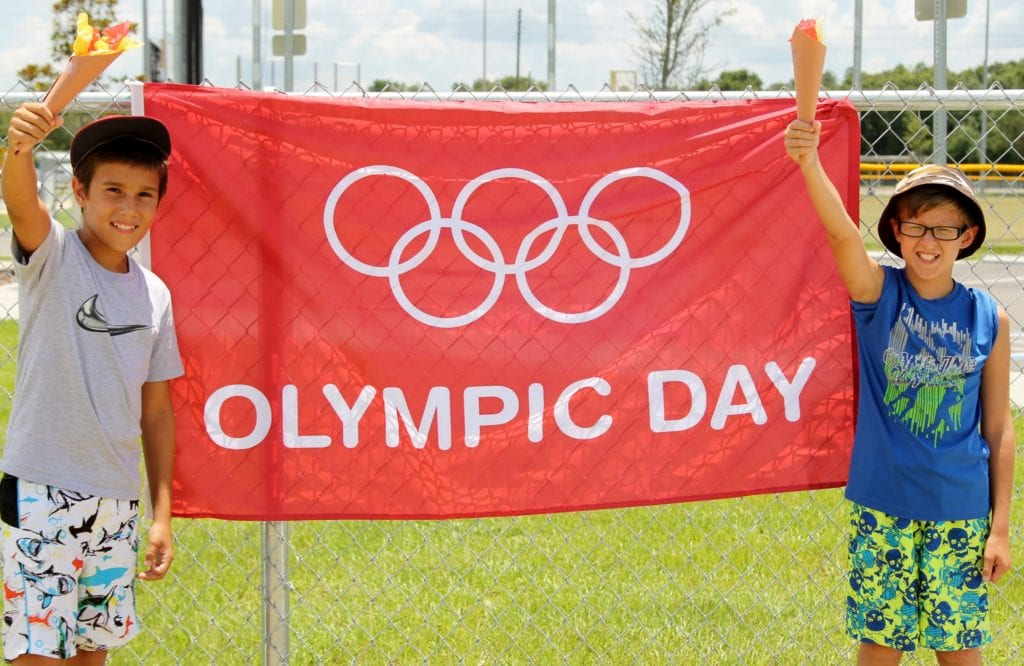 Ismar Kukic and Dylan Deak show the Olympic spirit in Pasco County.
