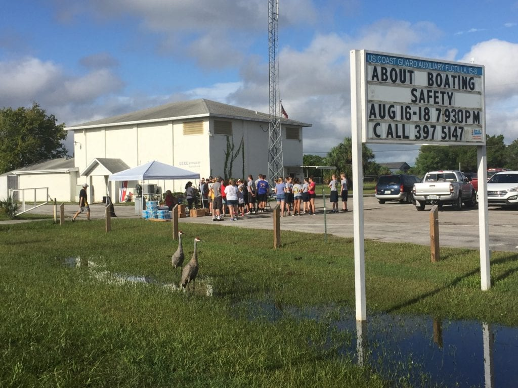 The West Hernando County community gathered at the Hernando Beach Coast Guard in force to help neighbors in Operation Hernando Gut & Dump.