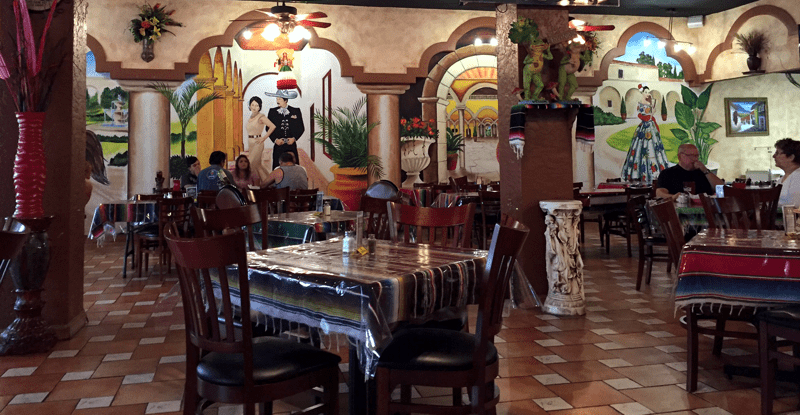 Del Carmen is a special Mexican market and Taqueria. The interior mural is magnifico!