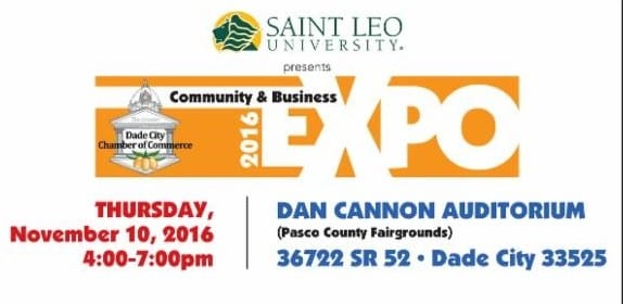 Dade City Community and Business expo logo