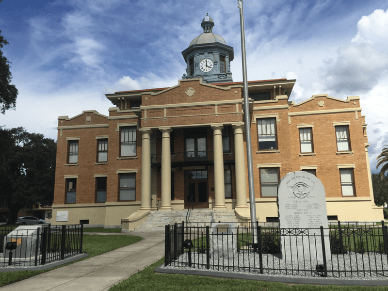 The historic Citrus County courthouse is surrounded by shops of many varieties with plenty to offer a shopper and a diner.