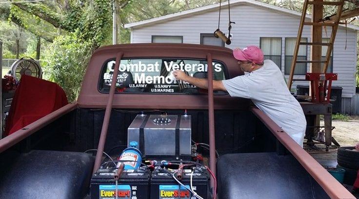 Tony with Combat Veterans Memorial Truck