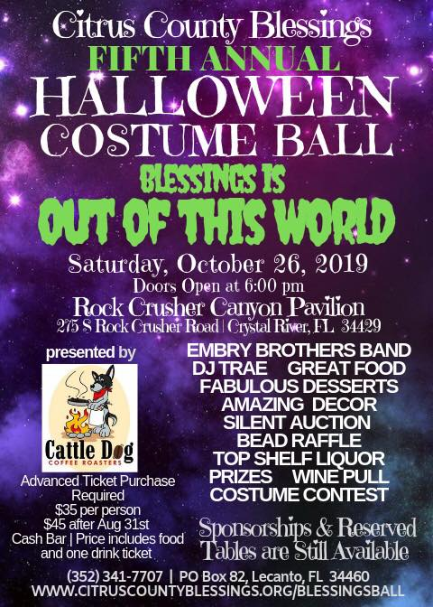 Citrus County Halloween Dates 2020 Blessings Halloween Costume Ball : NatureCoaster.com